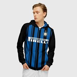 Толстовка 3D на молнии мужская Inter FC: Home 17/18 цвета 3D-черный — фото 2