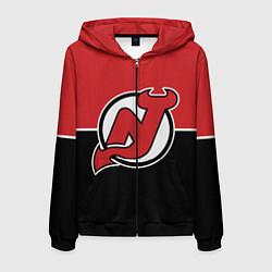 Толстовка 3D на молнии мужская New Jersey Devils цвета 3D-черный — фото 1