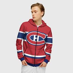 Толстовка 3D на молнии мужская Montreal Canadiens цвета 3D-синий — фото 2