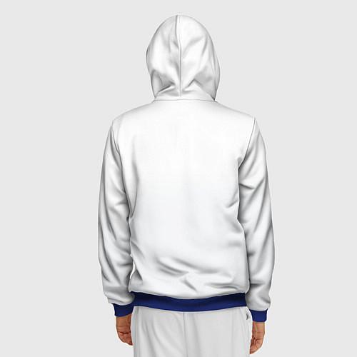 Мужская толстовка на молнии Группа Пикник / 3D-Синий – фото 4