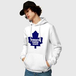 Толстовка-худи хлопковая мужская Toronto Maple Leafs цвета белый — фото 2