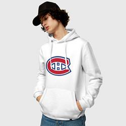 Толстовка-худи хлопковая мужская Montreal Canadiens цвета белый — фото 2
