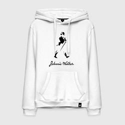 Толстовка-худи хлопковая мужская Johnnie Walker цвета белый — фото 1