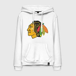 Толстовка-худи хлопковая мужская Chicago Blackhawks: Kane цвета белый — фото 1