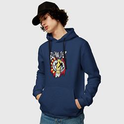 Толстовка-худи хлопковая мужская Blink-182: Mixed Up цвета тёмно-синий — фото 2