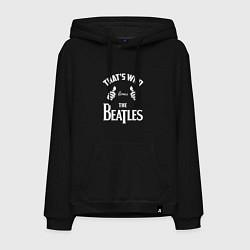 Толстовка-худи хлопковая мужская That's Who Loves The Beatles цвета черный — фото 1