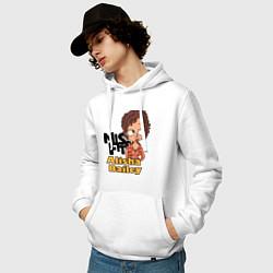 Толстовка-худи хлопковая мужская Misfits: Alisha Bailey цвета белый — фото 2