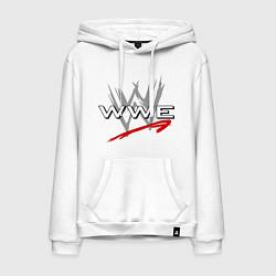 Толстовка-худи хлопковая мужская WWE Fight цвета белый — фото 1