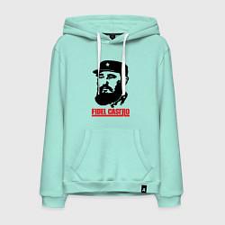 Толстовка-худи хлопковая мужская Fidel Castro цвета мятный — фото 1