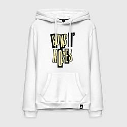Толстовка-худи хлопковая мужская Guns n Roses: cream цвета белый — фото 1
