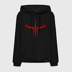 Толстовка-худи хлопковая мужская Quake logo цвета черный — фото 1