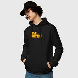 Толстовка-худи хлопковая мужская Pulp Fiction цвета черный — фото 2