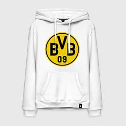 Толстовка-худи хлопковая мужская BVB 09 цвета белый — фото 1