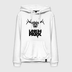 Толстовка-худи хлопковая мужская Linkin Park: Deer цвета белый — фото 1