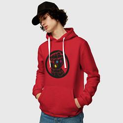 Толстовка-худи хлопковая мужская Infinity Gauntlet цвета красный — фото 2