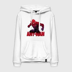 Толстовка-худи хлопковая мужская Ant-man цвета белый — фото 1