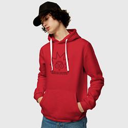 Толстовка-худи хлопковая мужская IM Sorry цвета красный — фото 2