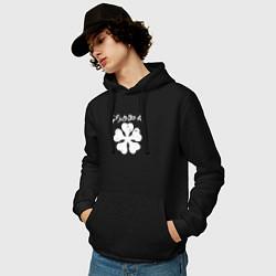 Толстовка-худи хлопковая мужская Чёрный клевер цвета черный — фото 2
