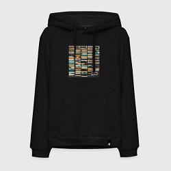 Толстовка-худи хлопковая мужская Скриптонит- 2004 цвета черный — фото 1