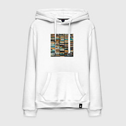 Толстовка-худи хлопковая мужская Скриптонит- 2004 цвета белый — фото 1