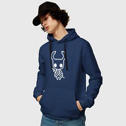Толстовка-худи хлопковая мужская Hollow Knight цвета тёмно-синий — фото 2