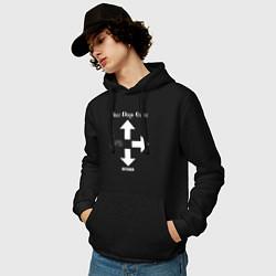 Толстовка-худи хлопковая мужская Three Days Grace цвета черный — фото 2
