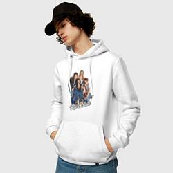 Толстовка-худи хлопковая мужская Riverdale heroes цвета белый — фото 2