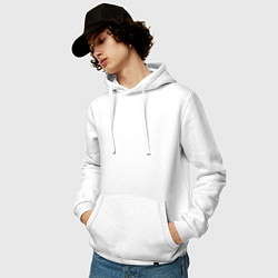 Толстовка-худи хлопковая мужская S T A R Labs цвета белый — фото 2