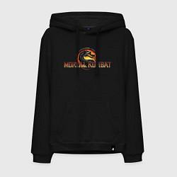 Толстовка-худи хлопковая мужская Mortal Kombat цвета черный — фото 1