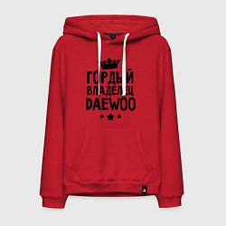 Толстовка-худи хлопковая мужская Гордый владелец Daewoo цвета красный — фото 1