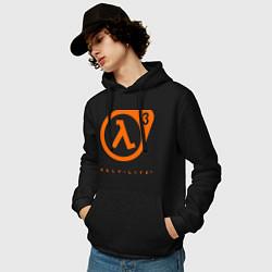 Толстовка-худи хлопковая мужская Half-Life 3 цвета черный — фото 2