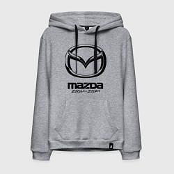 Толстовка-худи хлопковая мужская Mazda Zoom-Zoom цвета меланж — фото 1