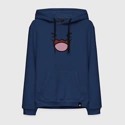 Толстовка-худи хлопковая мужская Wobbuffet цвета тёмно-синий — фото 1