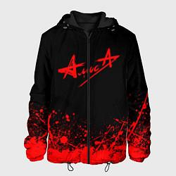 Куртка с капюшоном мужская АлисА на спине цвета 3D-черный — фото 1
