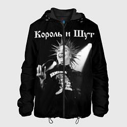 Куртка с капюшоном мужская Король и Шут Анархия спина цвета 3D-черный — фото 1