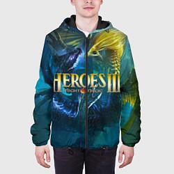 Куртка с капюшоном мужская Heroes of Might and Magic цвета 3D-черный — фото 2