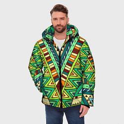 Куртка зимняя мужская Этно цвета 3D-черный — фото 2