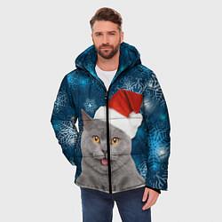 Куртка зимняя мужская Праздничная пара 2 цвета 3D-черный — фото 2