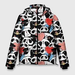 Куртка зимняя мужская Funny Pandas цвета 3D-черный — фото 1
