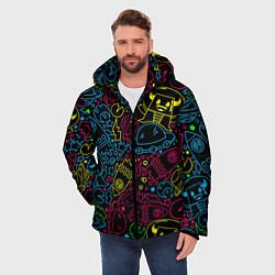 Куртка зимняя мужская КОСМИЧЕСКИЙ НЕОН цвета 3D-черный — фото 2