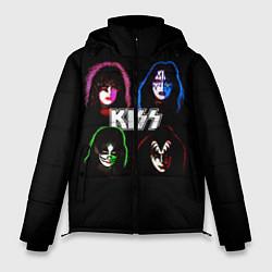 Куртка зимняя мужская KISS: Acid Colours цвета 3D-черный — фото 1