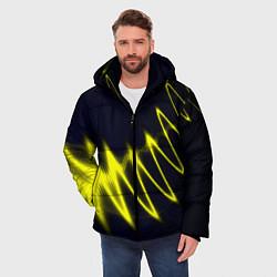 Куртка зимняя мужская Молния цвета 3D-черный — фото 2