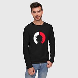 Лонгслив хлопковый мужской Эш: ловец покемонов цвета черный — фото 2