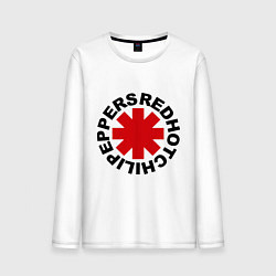 Лонгслив хлопковый мужской Red Hot Chili Peppers цвета белый — фото 1