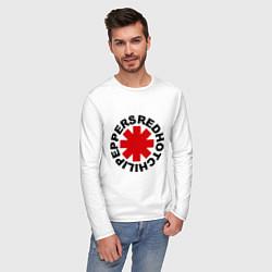 Лонгслив хлопковый мужской Red Hot Chili Peppers цвета белый — фото 2