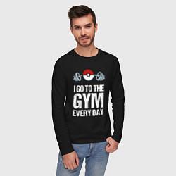 Лонгслив хлопковый мужской Gym Everyday цвета черный — фото 2
