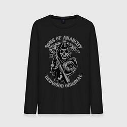 Лонгслив хлопковый мужской Sons of Anarchy: Redwood Original цвета черный — фото 1