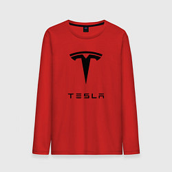 Лонгслив хлопковый мужской TESLA Mobile цвета красный — фото 1
