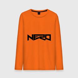 Лонгслив хлопковый мужской Nero цвета оранжевый — фото 1