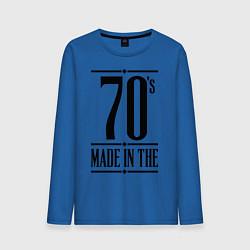 Лонгслив хлопковый мужской Made in the 70s цвета синий — фото 1